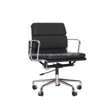 Modern Eames soft pad cadeira de gestão de couro