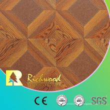 Suelo de madera laminado laminado del vinilo del roble blanco de 12.3mm AC4 comercial