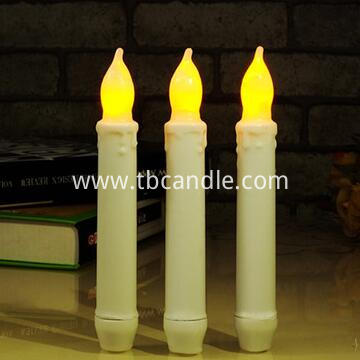 Flameless taper candle with timer