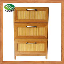 Bamboo 3 Drawer Storage Chest for Bedroom