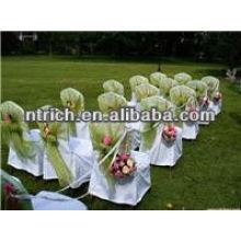 Decorative organza chair cap, chair head cover for wedding