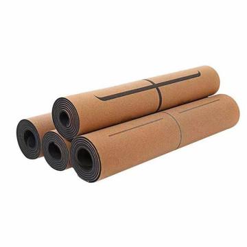 Esterilla de yoga de caucho natural Esterilla de yoga de corcho No tóxico Estera de yoga Respetuoso del medio ambiente Antideslizante Resistente a los olores