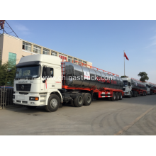 3 axle liquid bitumen tank semi-trailer with heating system