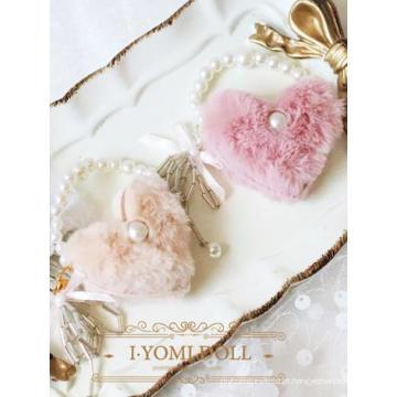 Bolsa BJD rosa / bege para senhora para boneca articulada SD / MSD / YOSD