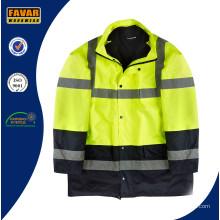 Hi Vis Traffice Police Водонепроницаемость 3 в 1 куртке