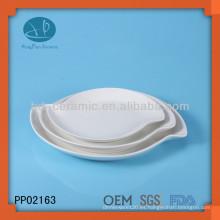 Placa de porcelana de perlas personalizadas, platos para el restaurante, vajilla platos modernos