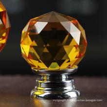 Trousse de serrage en verre ambré de haute qualité 30 mm pour armoire