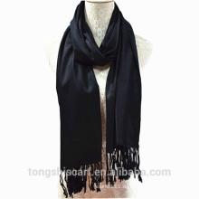 TS-014 Viskose Baumwolle Schal Volltonfarbe Viskose Schal Schal für Frau Hijab Fabrik Lieferant