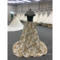 Robe de soirée noire brodée sur l'épaule véritable échantillon robe de soirée Alibaba