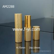 Novo Design Custom quadrado ouro tubo de batom de alumínio