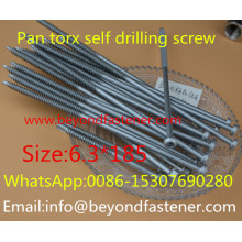 Tornillo de la perforación del uno mismo Tornillo de la azotea del acero inoxidable del tornillo