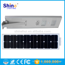 Super calidad y buen precio stand alone sensor de movimiento todo en una luz solar led calle