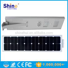 Super qualidade e bom preço stand alone sensor de movimento tudo em uma luz solar led rua