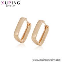 94919 mode simple boucle d'oreille conceptions nouveau modèle boucles d'oreilles carré hoop pas cher 18k plaqué or imitation bijoux pour femmes