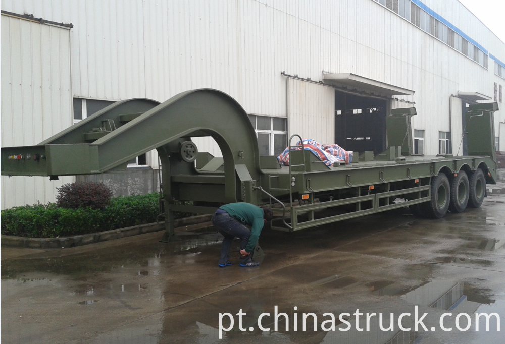 60Ton tank transport low bed trailer