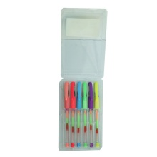 Rainbow Colorful Gel Ink Pen with Comfortable Grip (M-1506)