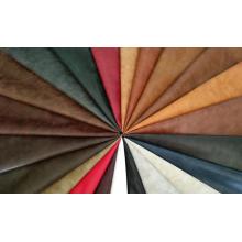 PU sentido de cera de dos colores de la tela de la piel de aceite