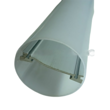 T10 LED Tube Lamp Shade PC Plastic Extrusion