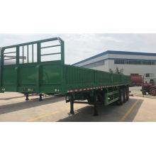 Good price box semi trailer with side open door 3 axles bulk cargo trailer