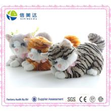 Cute Lifelike gato Plush Brinquedos Presente de aniversário do brinquedo do gato
