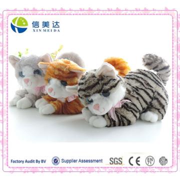 Nette lebensechte Katze Plüsch Spielzeug Geburtstag Geschenk Katze Spielzeug