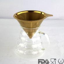 Débardeur de café doré à l'acier inoxydable 2016 à chaud, cafetière