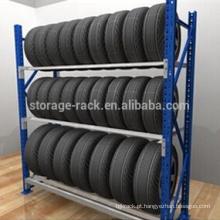 Prateleiras de armazenamento de pneus para armazém utilizadas