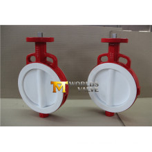 Full PTFE Coated Wafer Butterfly Valve with Bare Stem (CBF04-TA01)