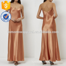New Fashion Burnt Orange Slip Evening Gown Dress Manufacture Wholesale Fashion Women Apparel (TA5265D)