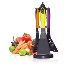 Juego de 7 piezas de utensilios de cocina de nylon antiadherente