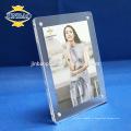 Jinbao claire matériau photo acrylique cadre photo magnétique