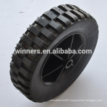8x2.125 plastic rubber wheel for sand trolley