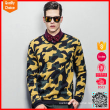 2016 new design knitted pullover military mens camo sweaters