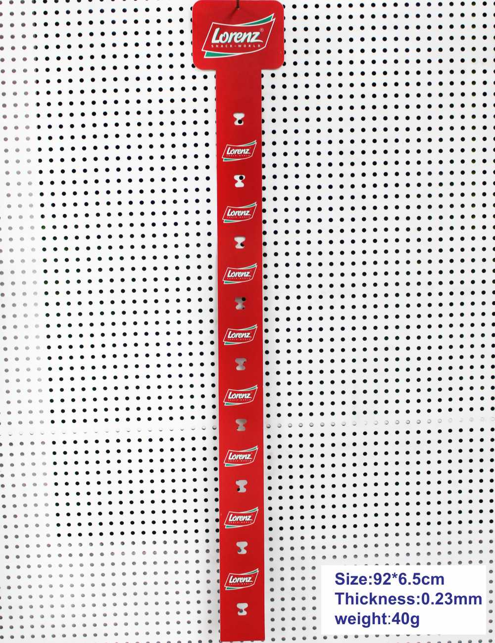 Pvc 015 Red Hanging Strip