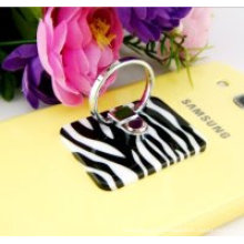 Tenedor antideslizante del anillo de dedo del cojín de la PU para el teléfono móvil
