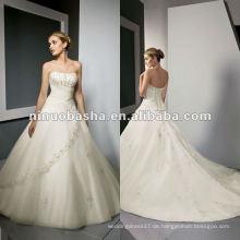 Aus Schulter Hochzeitskleid