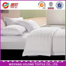 белый 100% хлопок сатин полоса ткани/китайский производитель ткань 100% хлопок сатин полоса ткани для домашнего текстиля и отель кровать