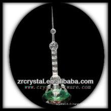 Magnifique modèle de bâtiment en cristal H048