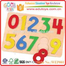 2015 Neue Mode Nine Numbers Wooden Puzzle Spielzeug für Kinder