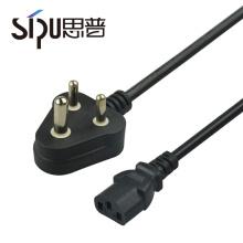 SIPU Großhandel hochwertige INDIA PC-Sicherungsseile mit angeformten Stecker Stromkabel