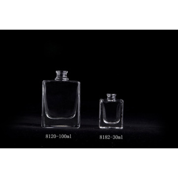 100ml Popular Clear Luxury Perfume Glass Square Bottle