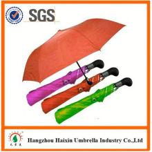 Professional OEM Fabrik liefern uv Schutz Mode 2 Falte Regenschirm mit krummen behandeln