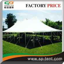 China Made Plain White Elegant Wedding Party Steel Stucture peg and pole tents 40 feet x 70 feet