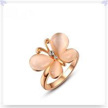 Joyería de la manera joyería cristalina anillo de aleación (al0025rg)
