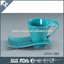 043-2BB 180CC Ceramic coffee cup and saucer