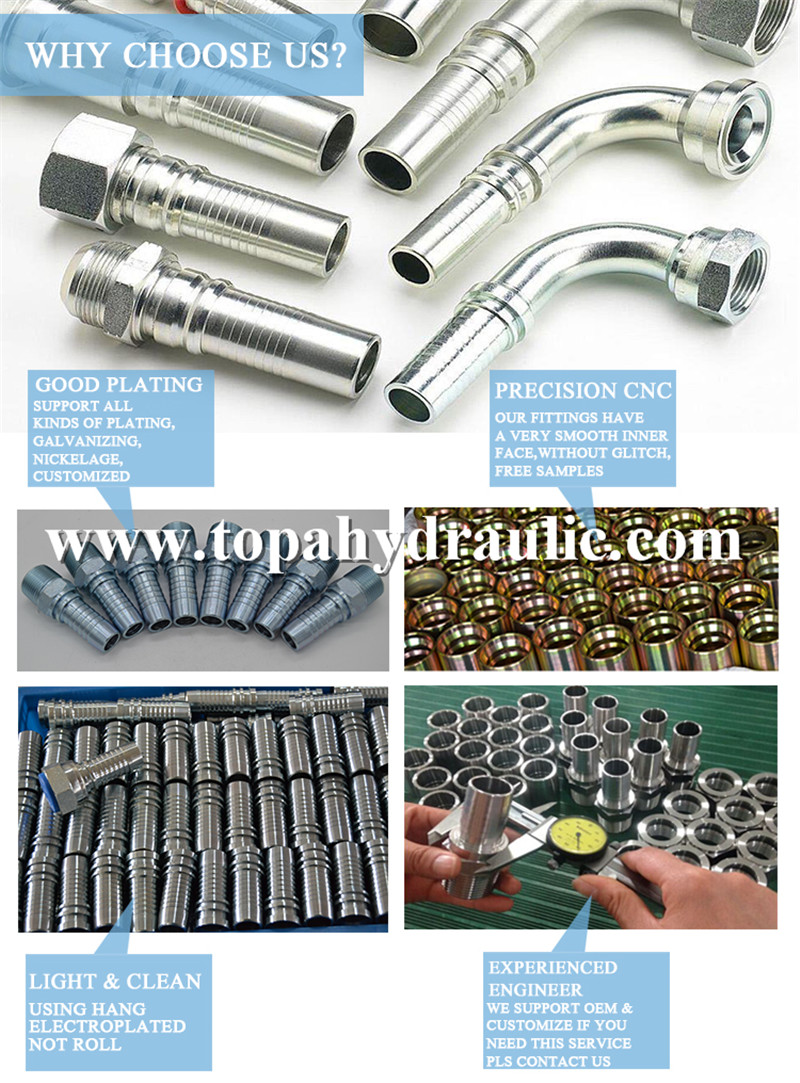 voss swaged stainless steel hydraulic fittings