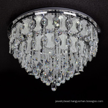 crystal glass ceiling lamp down light chandelier