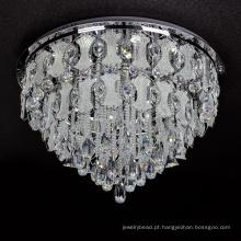 candeeiro de teto de cristal baixo lustre de luz