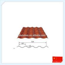 Placa de metal prefabricada prefabricada de alta calidad de China para el tejado