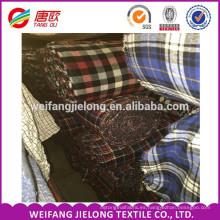 Tela de franela de algodón al por mayor 100% tela de franela de algodón impresa camisa de franela a cuadros